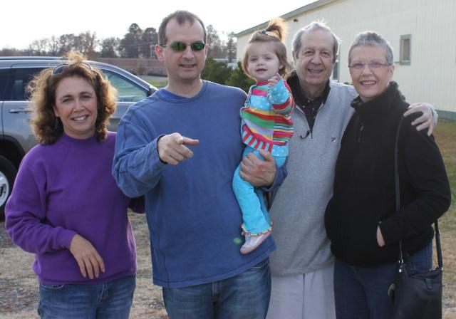 Aunt Lorraine, Papa, me, Grandpa and Grandma