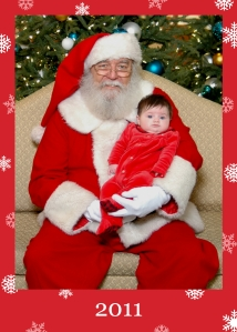1st visit to Santa 2011